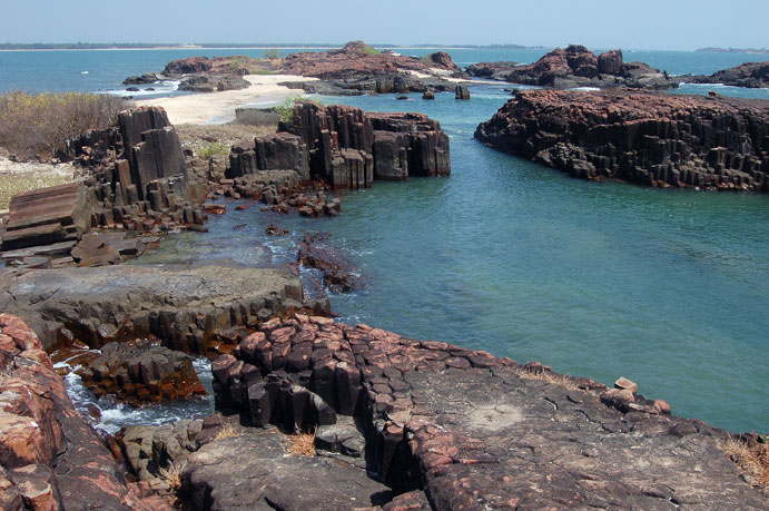 Queen Mary's island near Malpe beach in Udupi