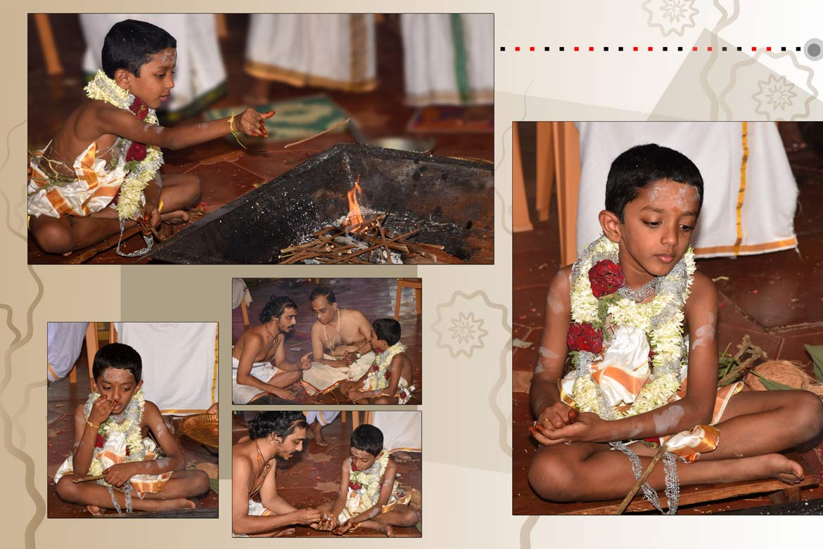 Upanayanam function photography in Sringeri