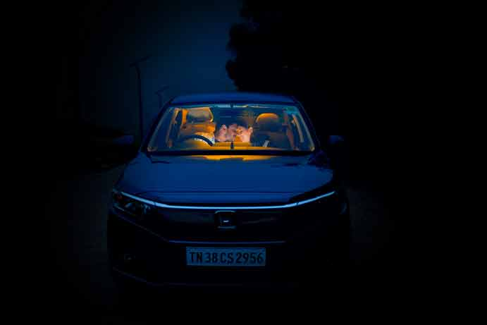 Candid Post-Wedding Photography in a Misty night in Ooty